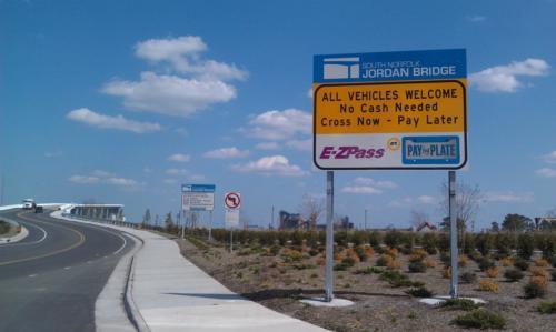 toll sign EB
